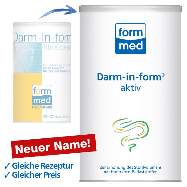 Darm-in-form aktiv (ehem. fibra clean)