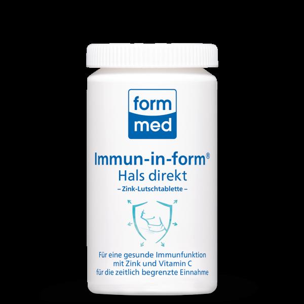 Immun-in-form® Hals direkt (Zink-Lutschtablette)